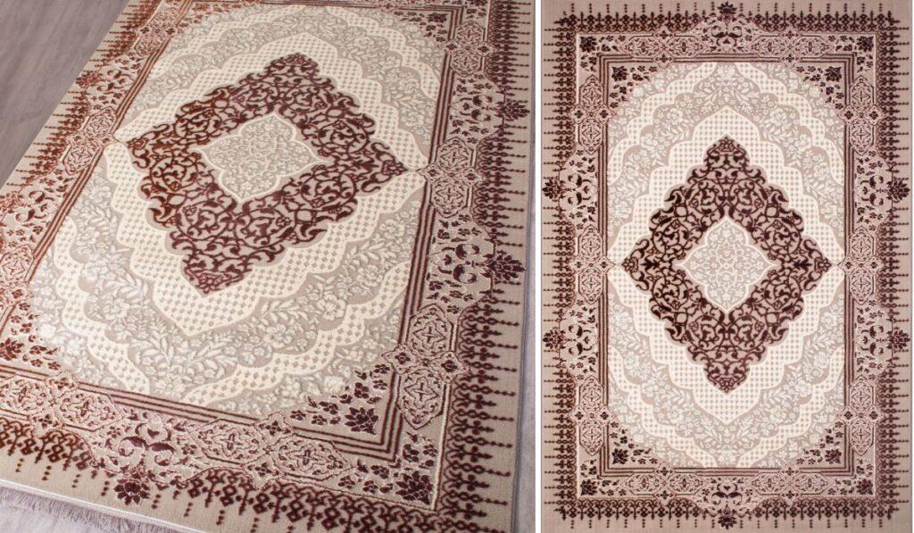 ویژه گی و خرید فرش مدرن مدل 6371 نسکافه ای