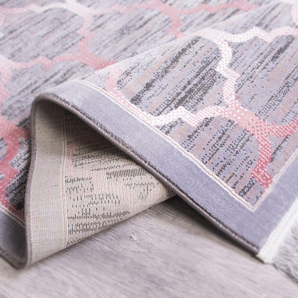 فرش نقره ای صورتی 2