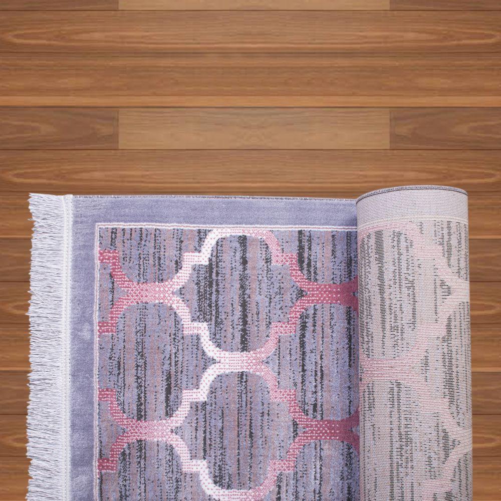 فرش نقره ای صورتی 3