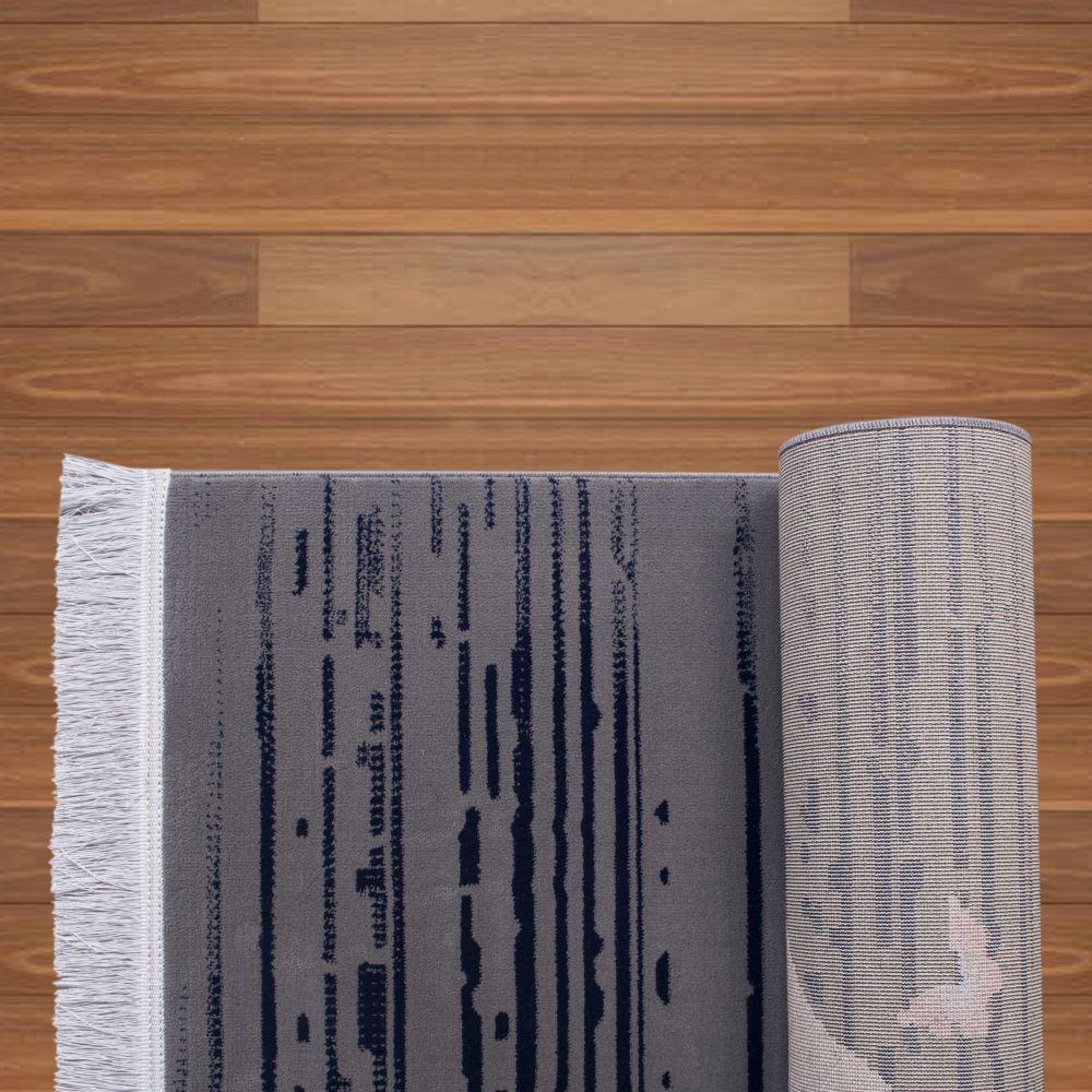 فرش فانتزی 40267 نقره ای صورتی 3