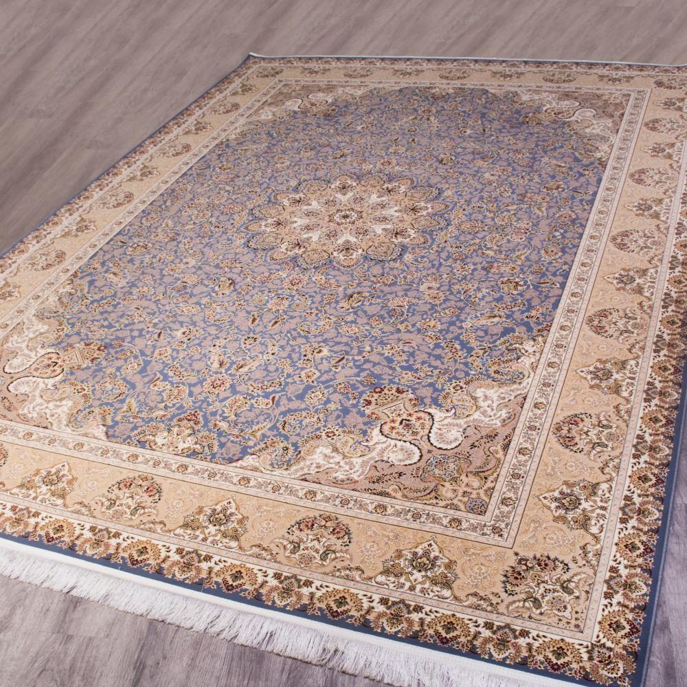 فرش ماشینی ارغوان آبی 2