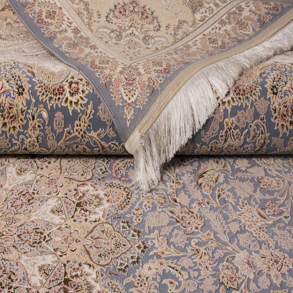 فرش ماشینی ارغوان آبی 3