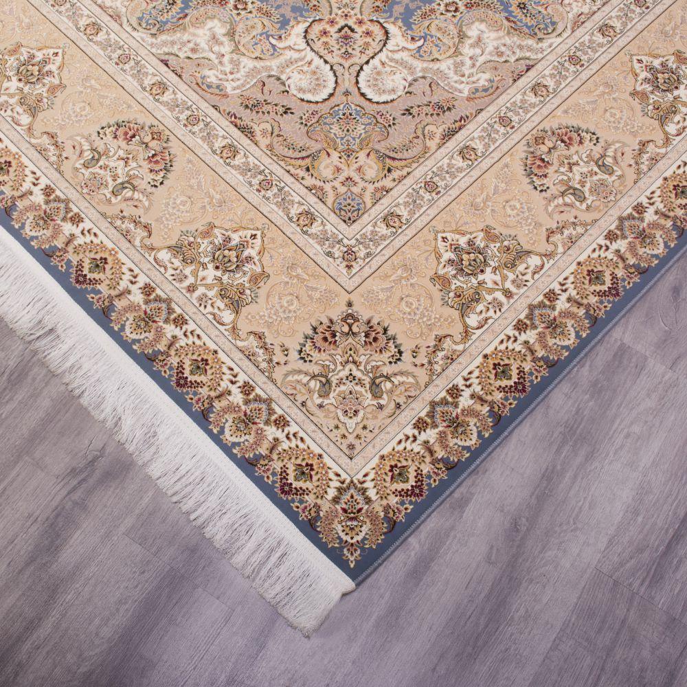 فرش ماشینی ارغوان آبی 4