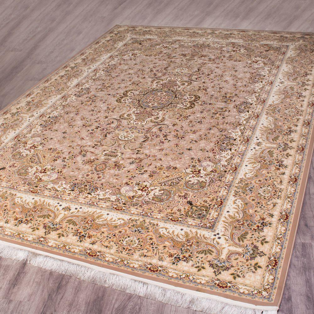 فرش ماشینی تبریز شکلاتی 2