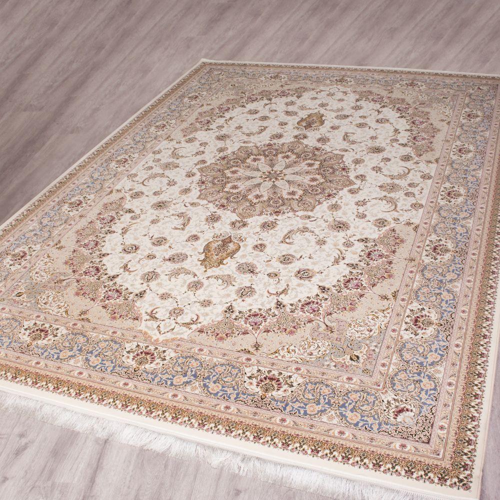 فرش ماشینی اصفهان کرم سفید 2