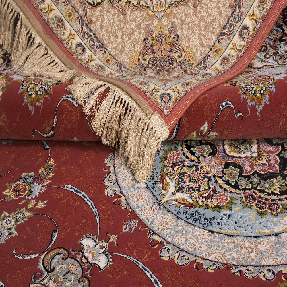 فرش ماشینی 1261 گلبهی 3