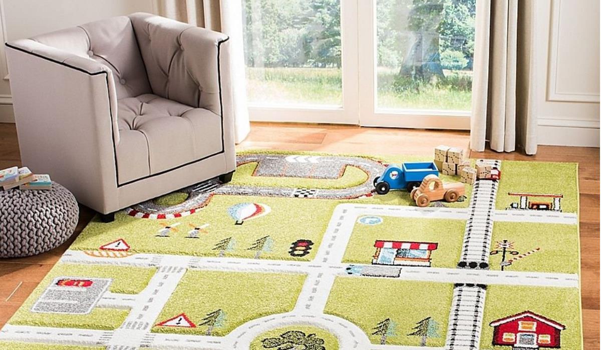 فرش اتاق کودک طرح جاده