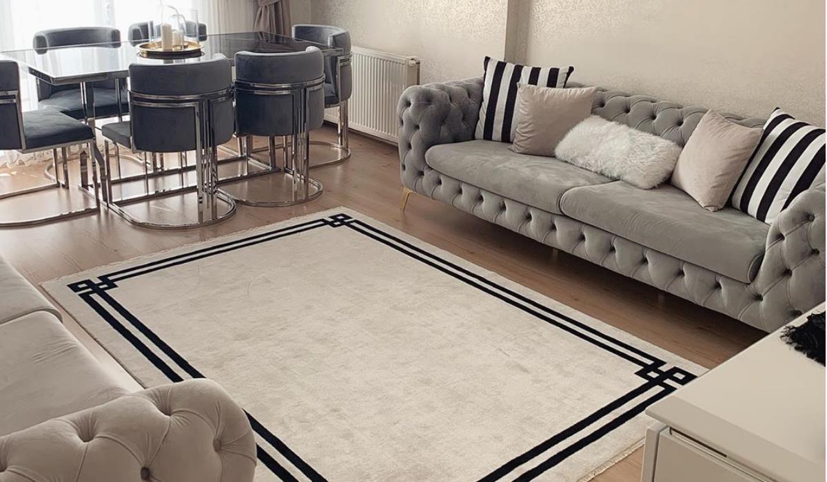 فرش ماشینی مدرن با طرح ساده و محبوب