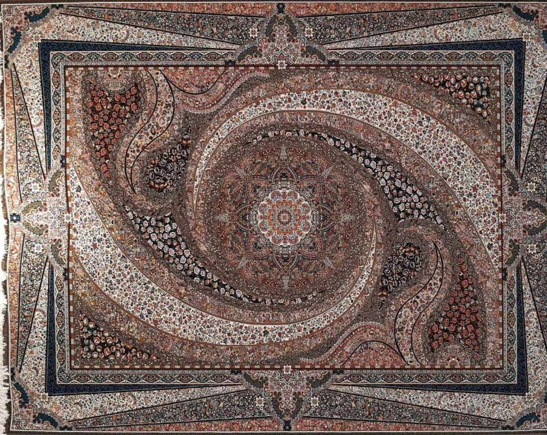 فرش طرح کهکشان گردویی