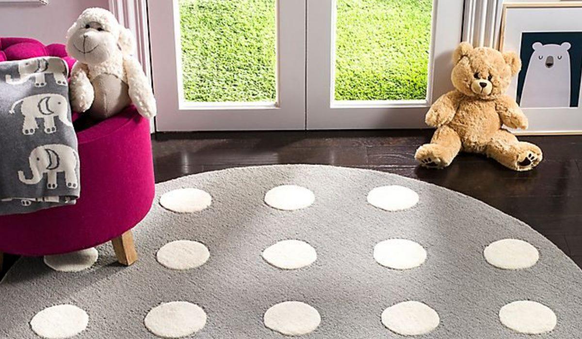 فرش گرد اتاق کودک
