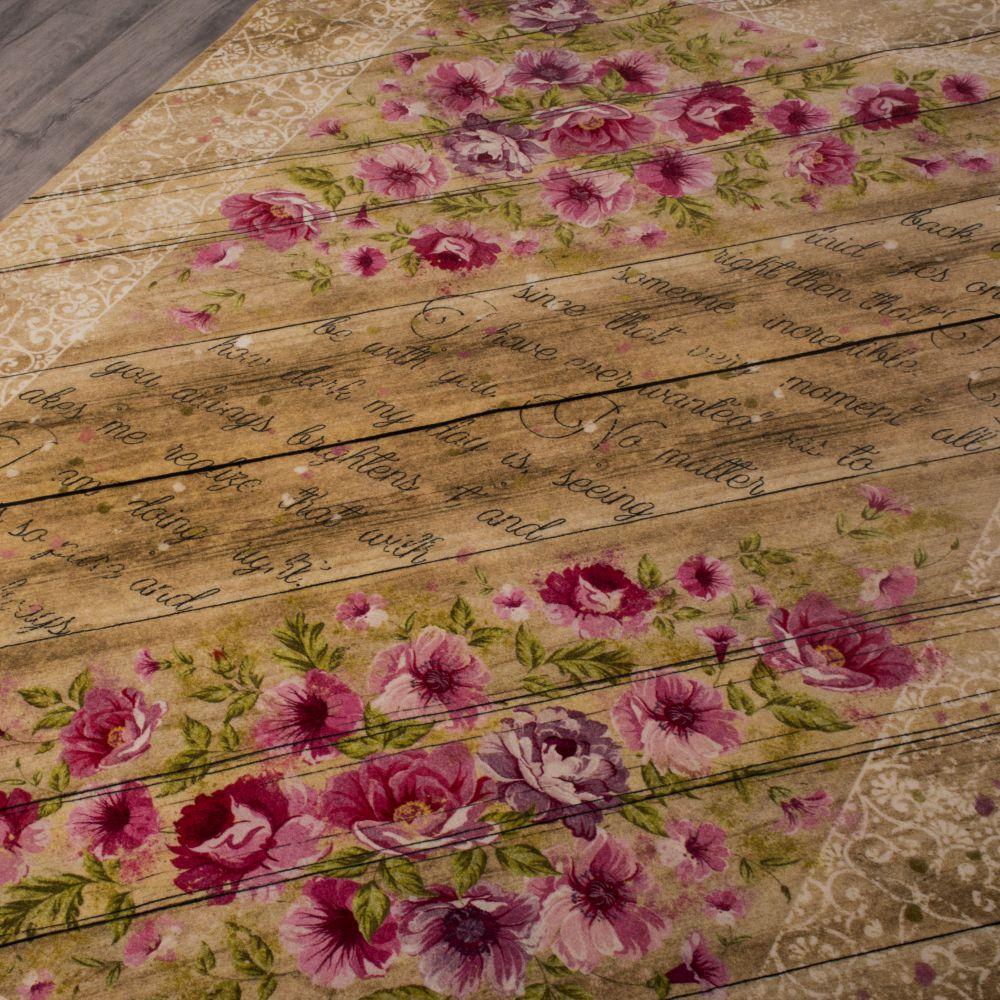 فرش فانتزی کلاریس 100590 بادامی 2