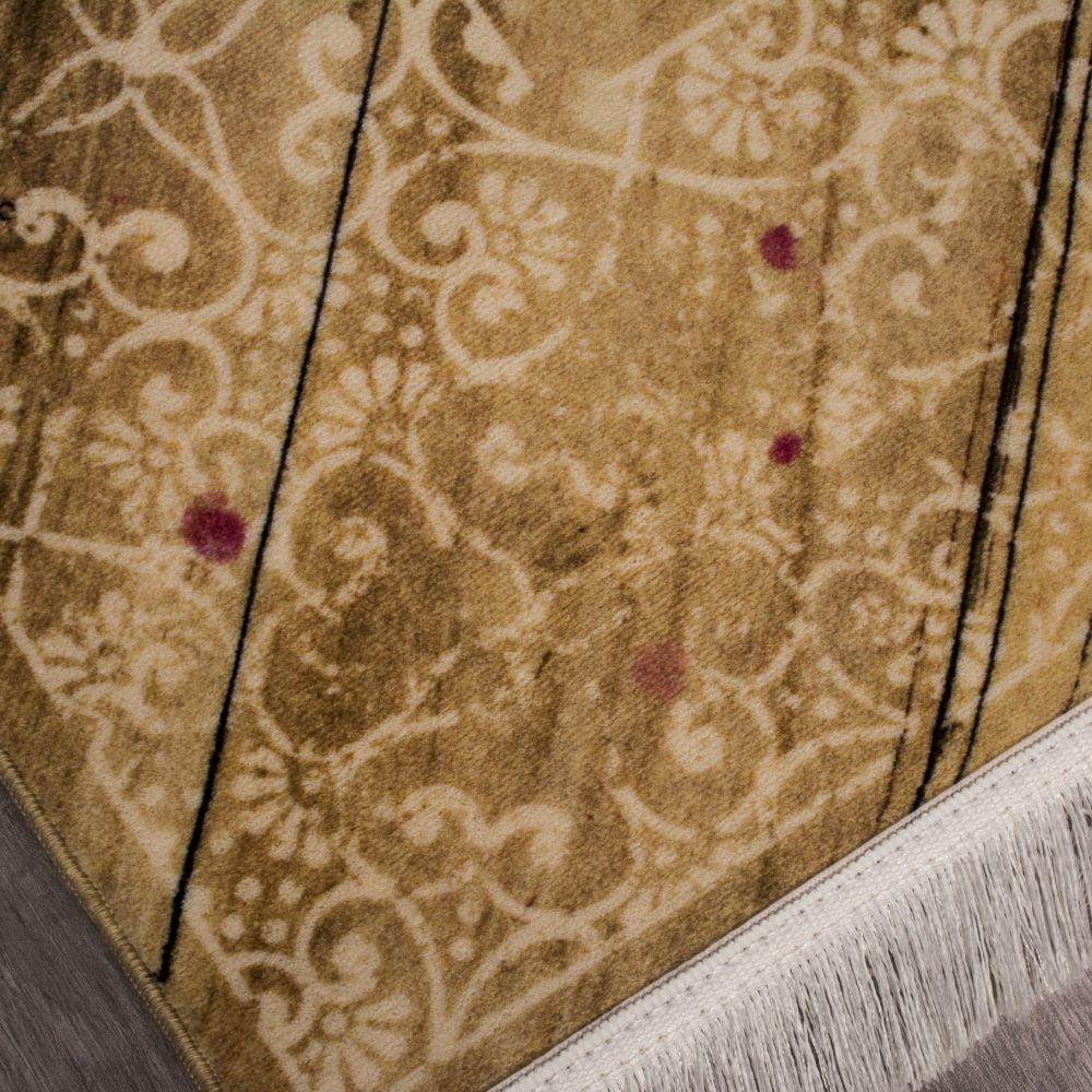 فرش فانتزی کلاریس 100590 بادامی 4