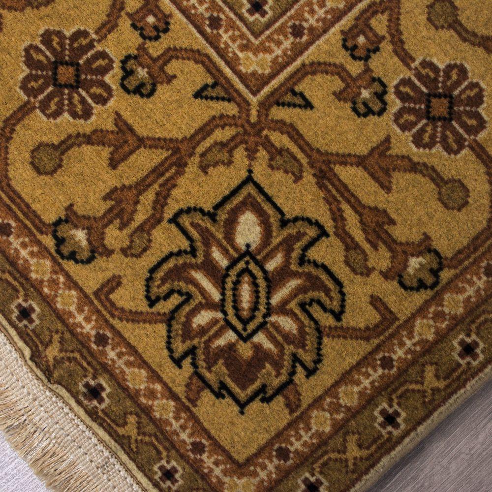 فرش مدرن دست بافت نما کلاریس 100447 سیاه 2