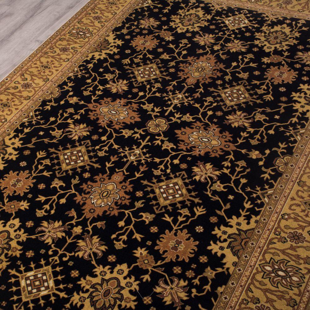 فرش مدرن دست بافت نما کلاریس 100447 سیاه 3