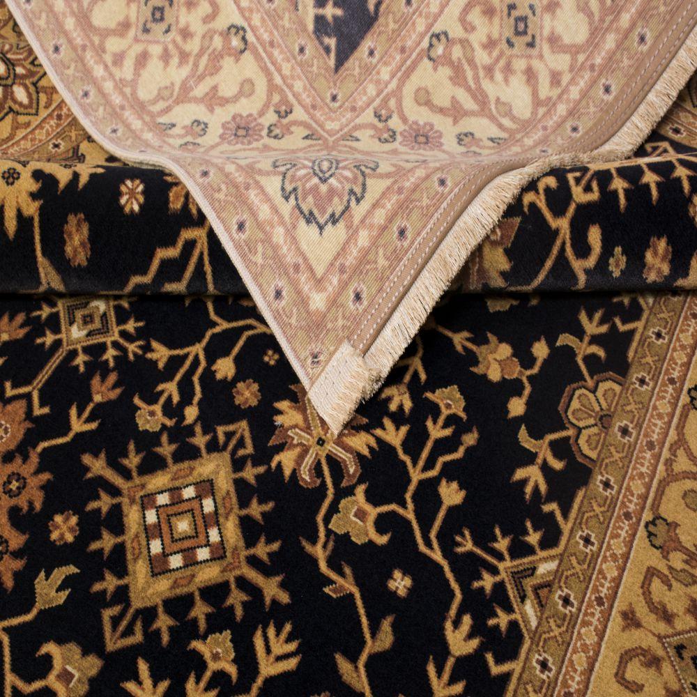 فرش مدرن دست بافت نما کلاریس 100447 سیاه 5