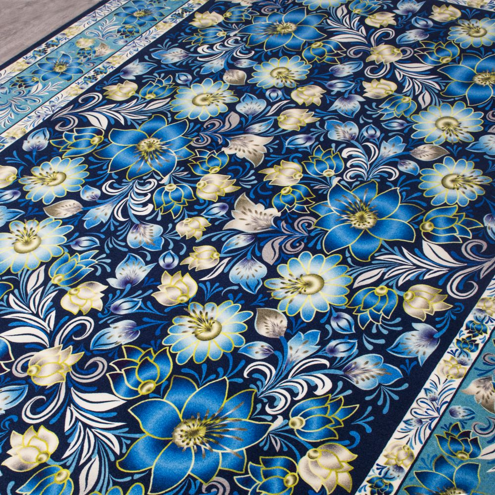 فرش ماشینی 100153 آبی 3
