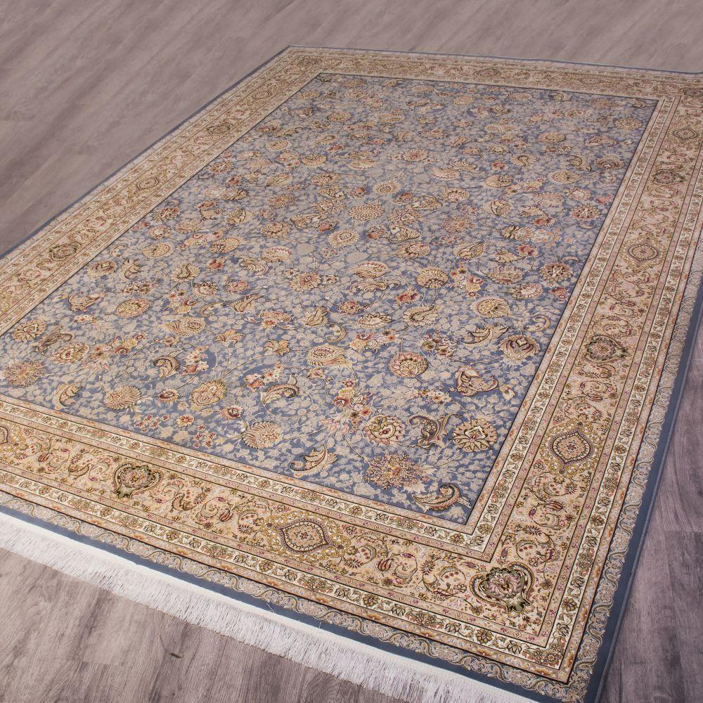 فرش ماشینی افشان سلطنتی آبی 2