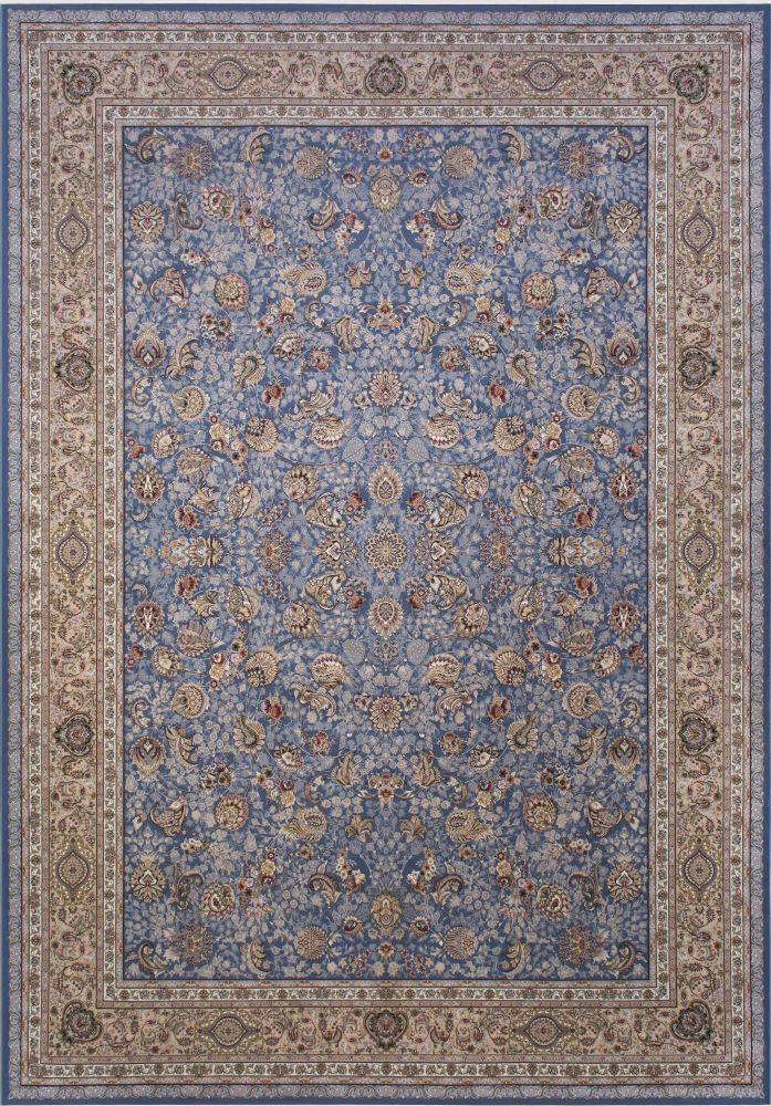 فرش ماشینی افشان سلطنتی آبی