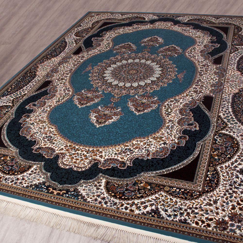 فرش ماشینی بهارستان آبی 2