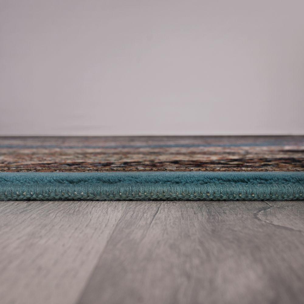 فرش ماشینی بهارستان آبی 4