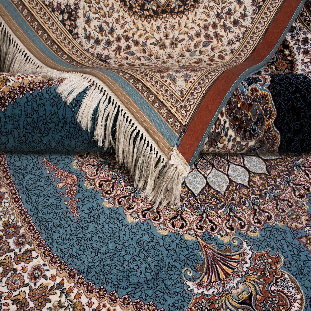 فرش ماشینی بهارستان آبی 5