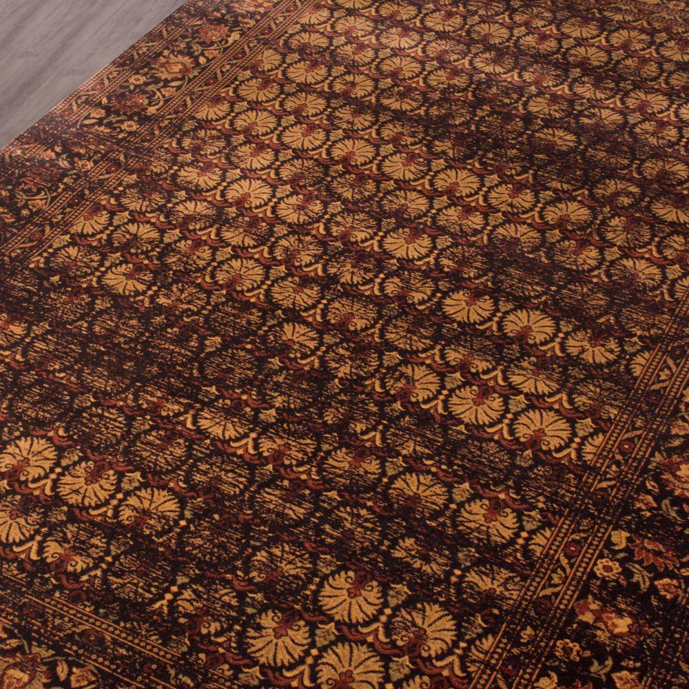 فرش مدرن وینتج کلاریس 100406 قهوه ای 4