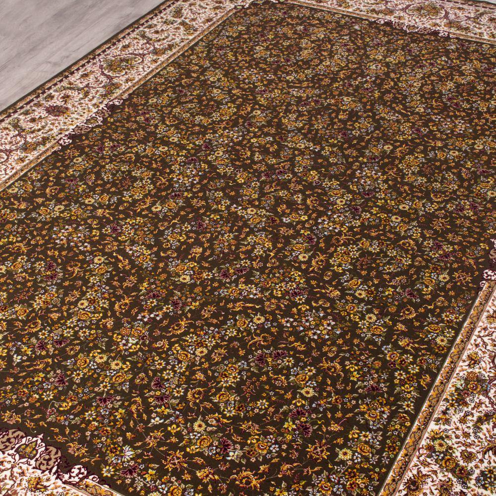 فرش مدرن دستبافت نماکلاریس 100575 قهوه ای 2