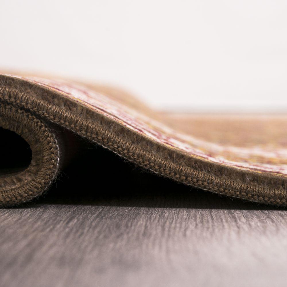 فرش مدرن دستبافت نماکلاریس 100575 قهوه ای 4