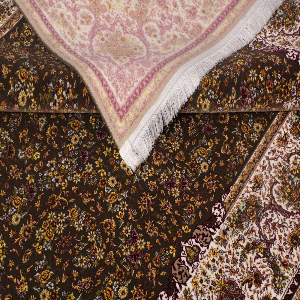 فرش مدرن دستبافت نماکلاریس 100575 قهوه ای 5