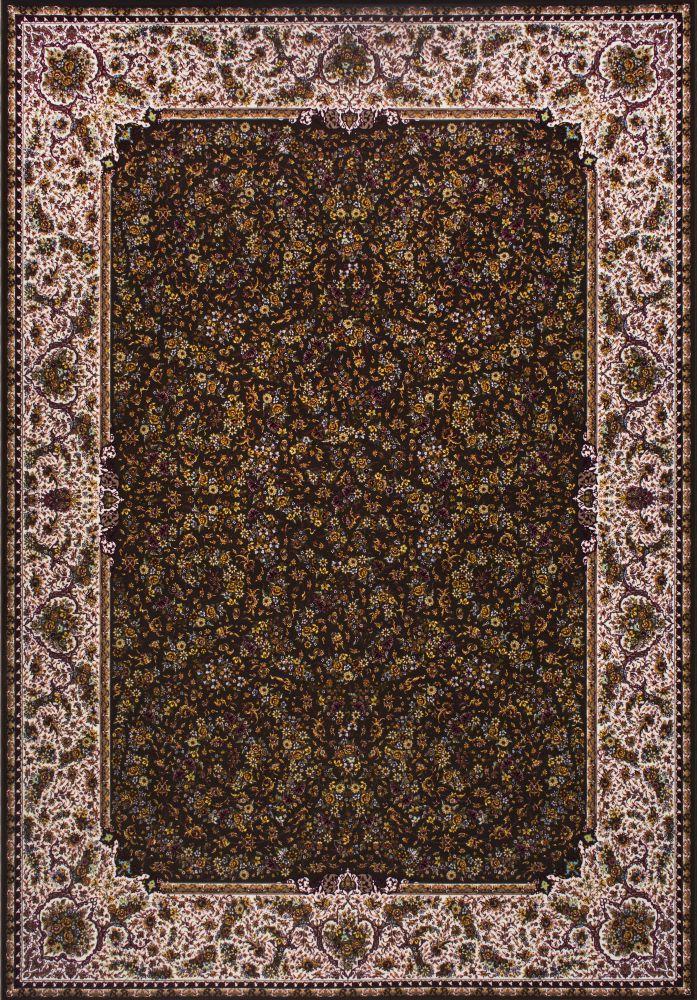 فرش مدرن دستبافت نماکلاریس 100575 قهوه ای
