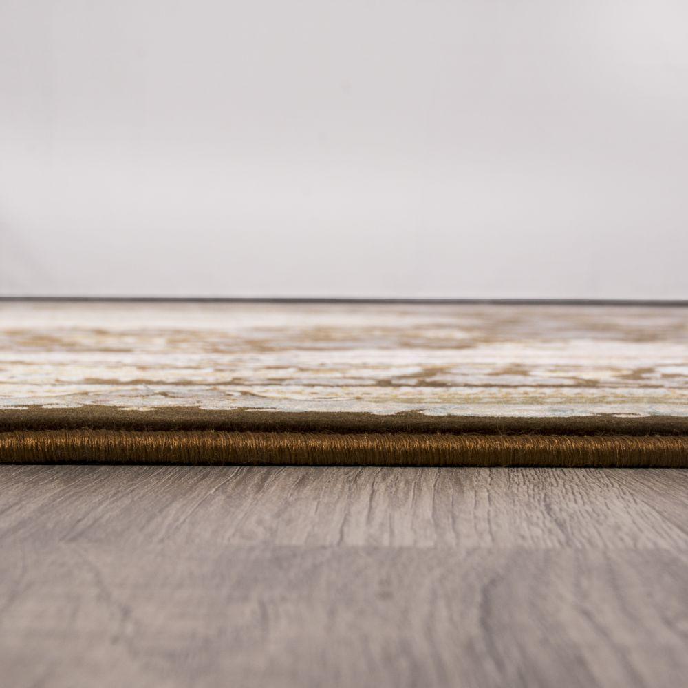 فرش ماشینی زرنگار قهوه ای 5