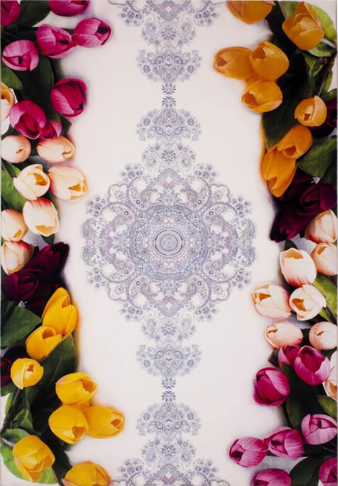 فرش فانتزی کلاریس 100571 تمام رنگ