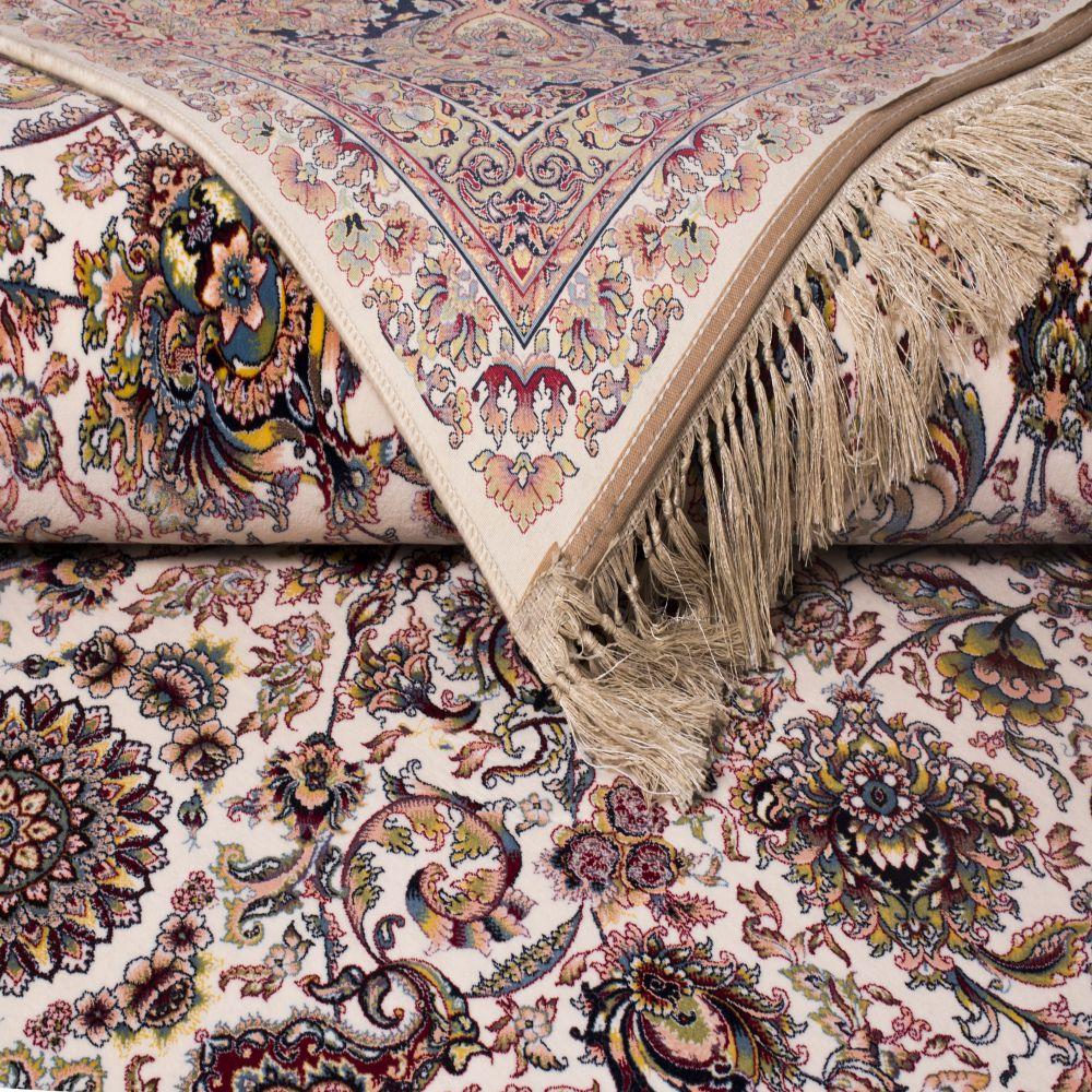 فرش ماشینی درباری کرم 3