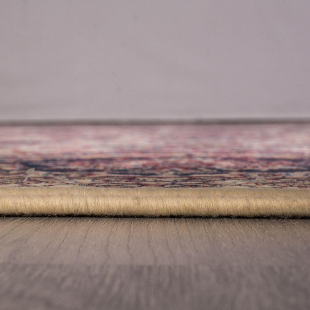 فرش ماشینی درباری کرم 5