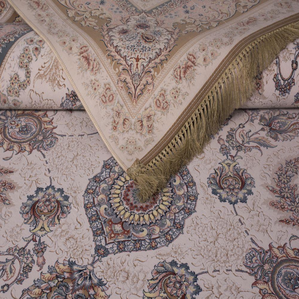 فرش ماشینی درباری کرم 2