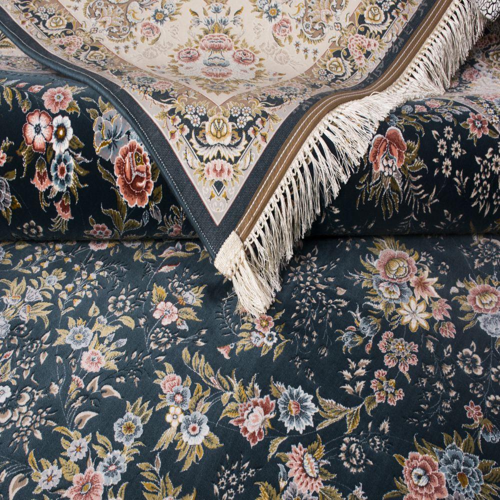 فرش ماشینی 1321 سرمه ای 3