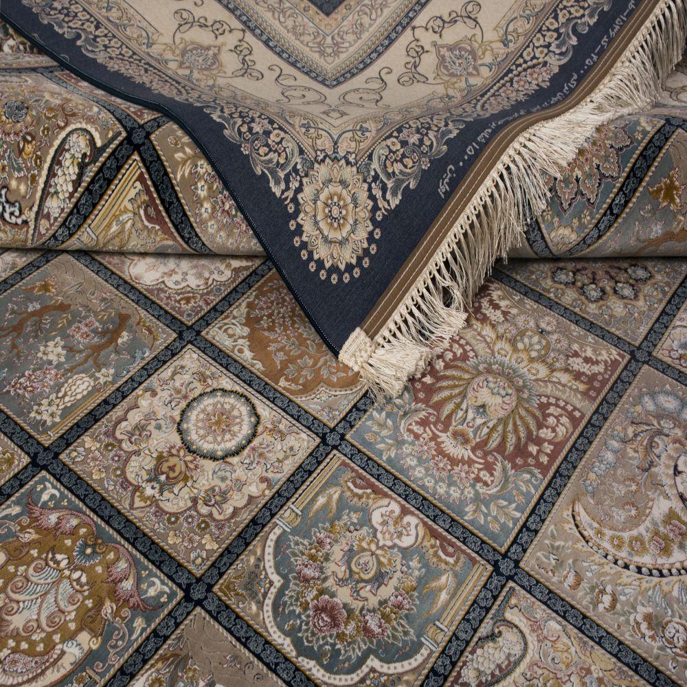 فرش ماشینی 1536 سرمه ای 5