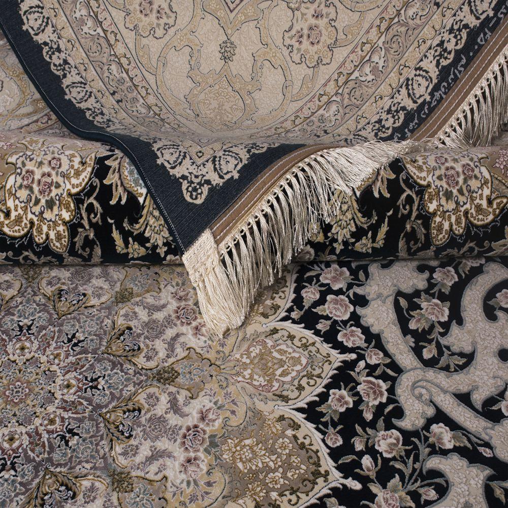 فرش ماشینی 1545 سرمه ای 5