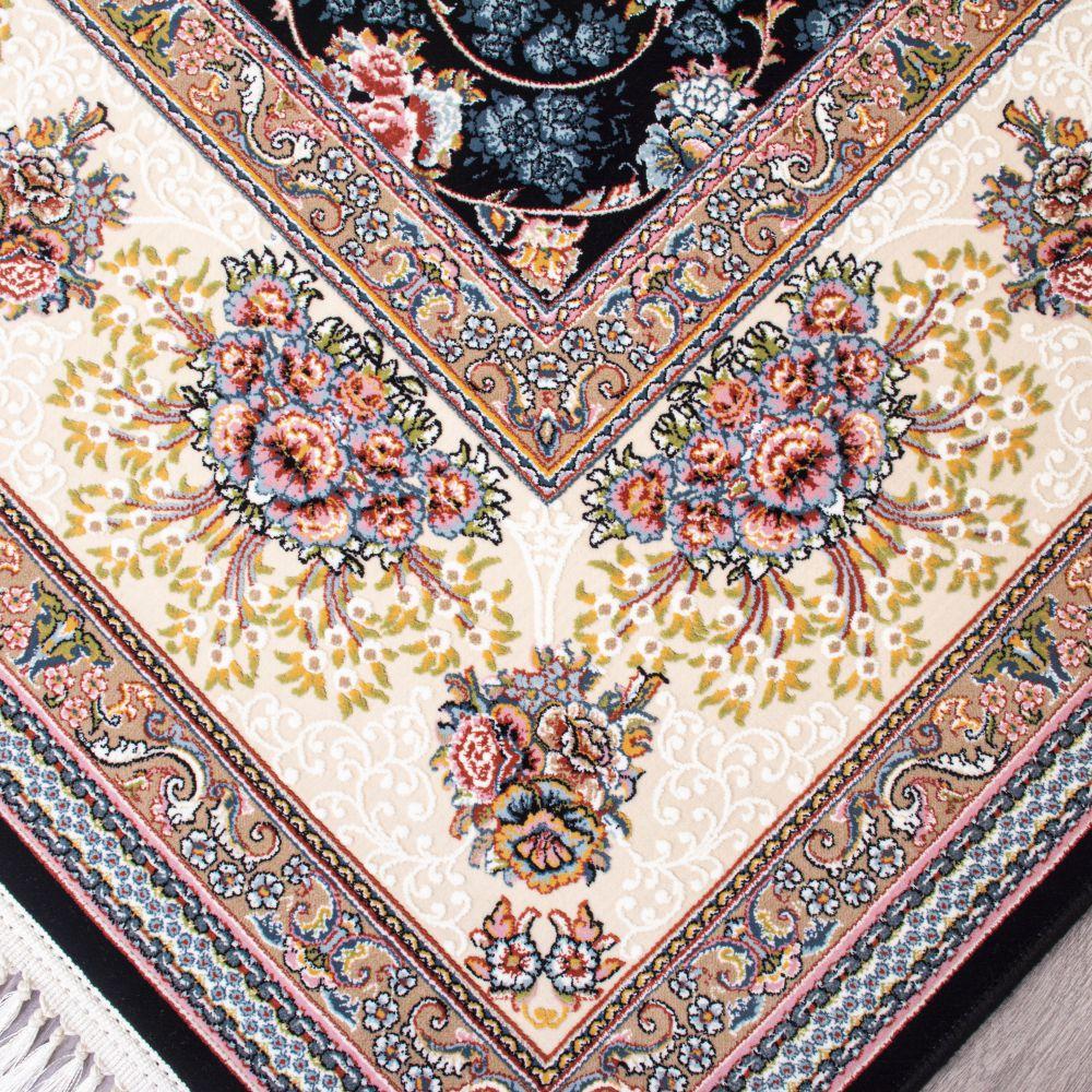 فرش ماشینی شاهان سرمه ای-2
