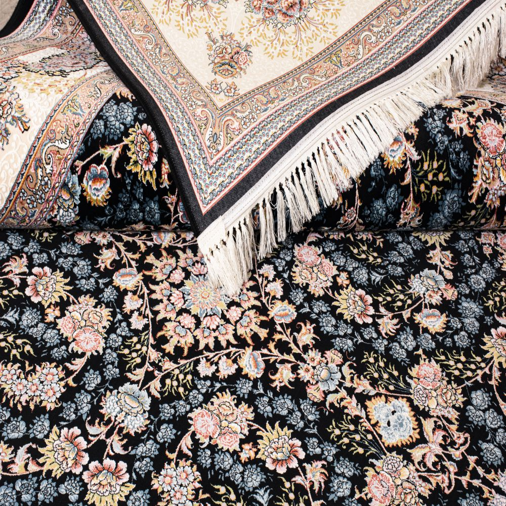 فرش ماشینی شاهان سرمه ای-5