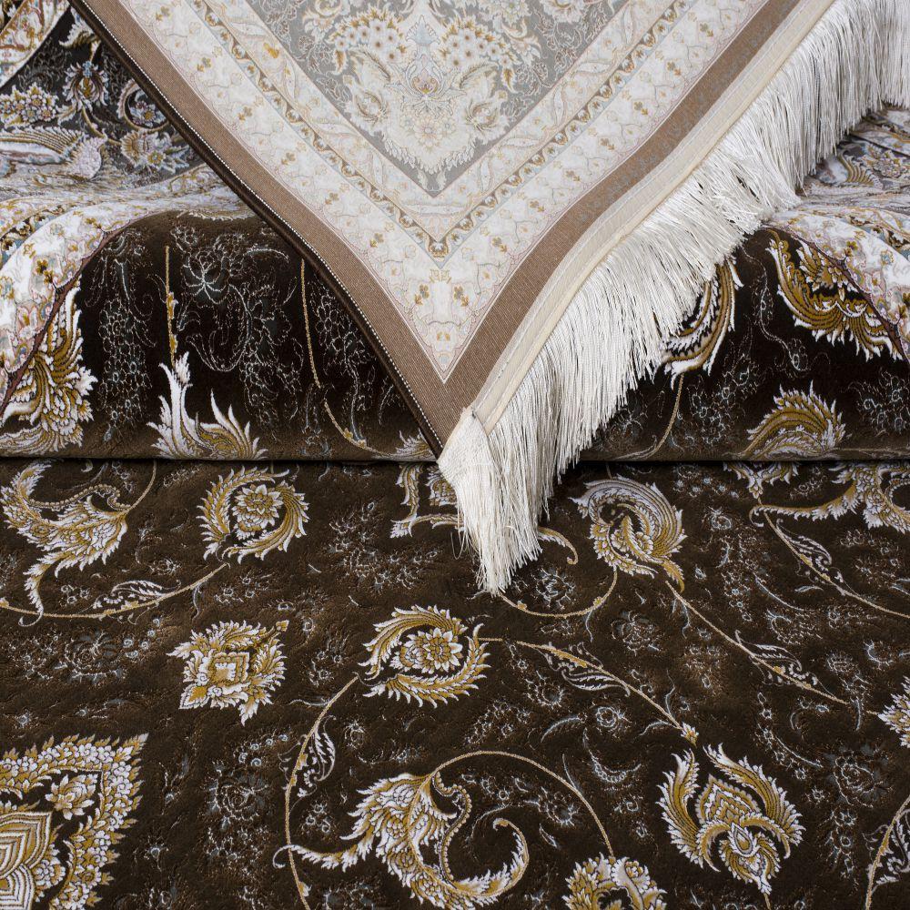 فرش ماشینی فرهان قهوه ای3