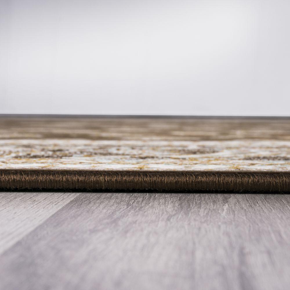 فرش ماشینی فرهان قهوه ای 5