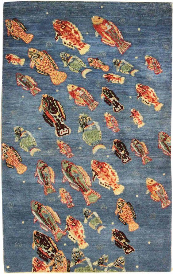 ابعاد فرش طرح ماهی