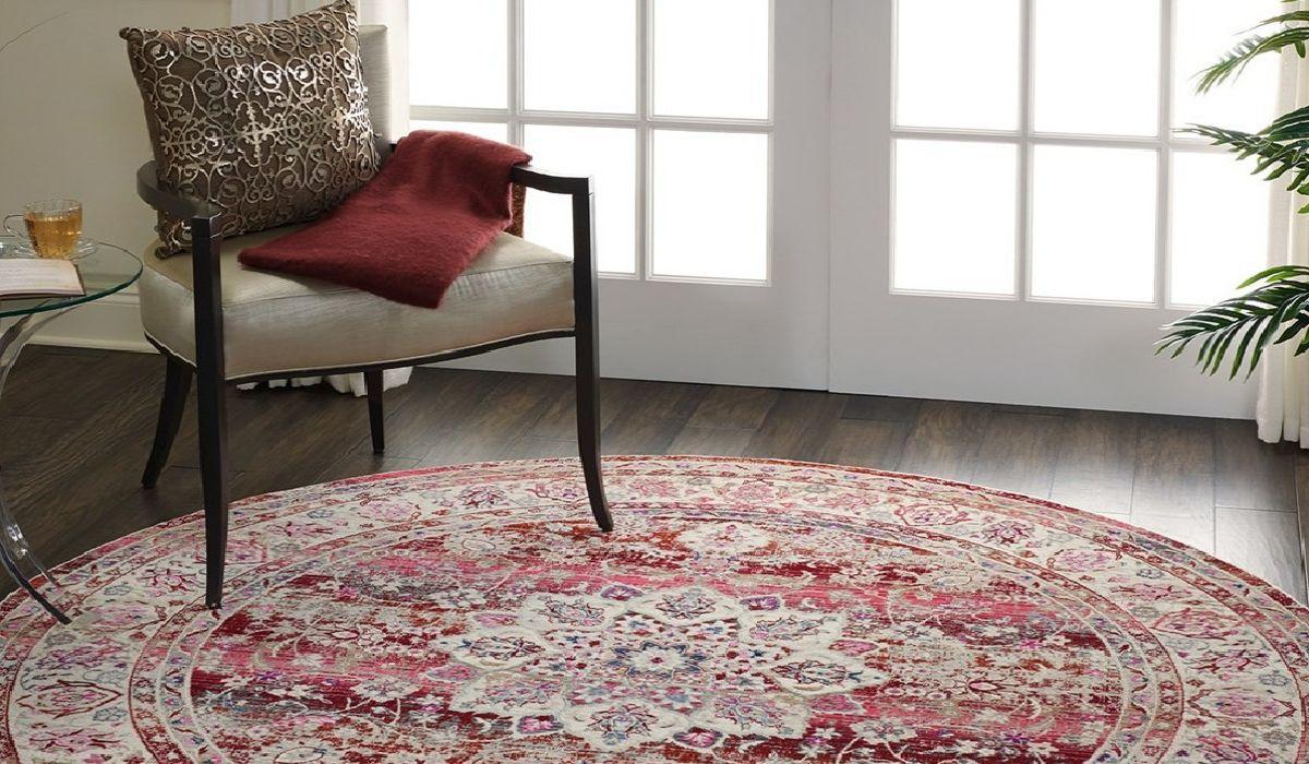 فرش گرد زیبا