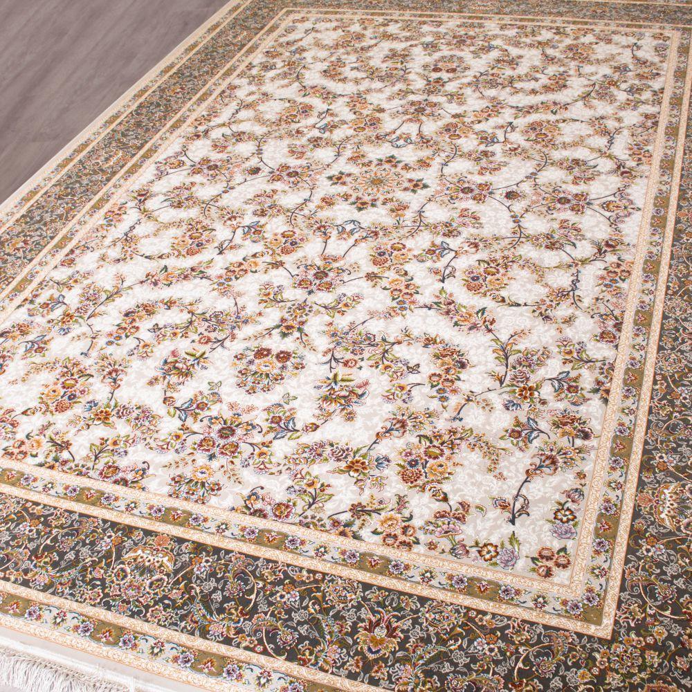 فرش ماشینی گل افشان سیلور 3
