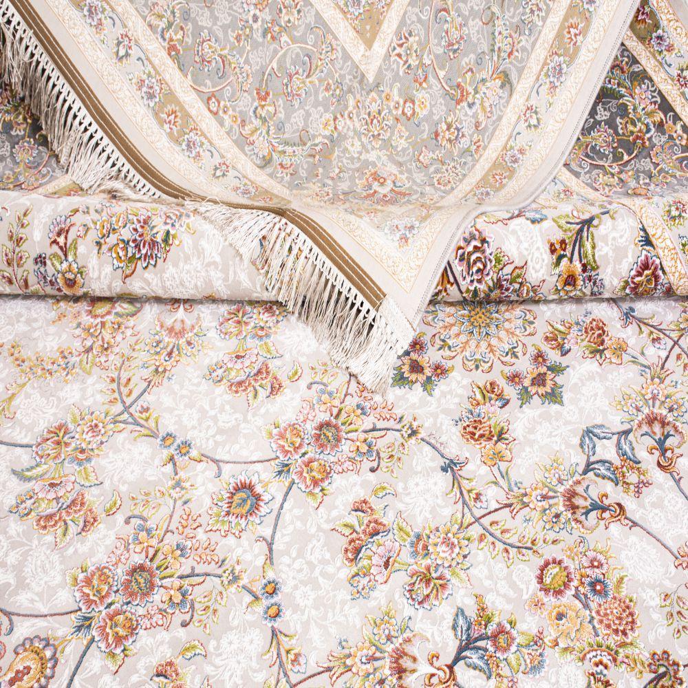فرش ماشینی گل افشان سیلور 5