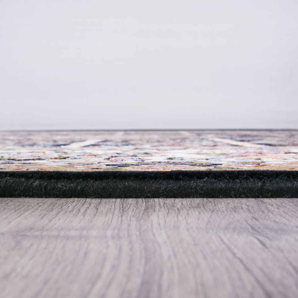 فرش ماشینی گلسار سرمه ای 5