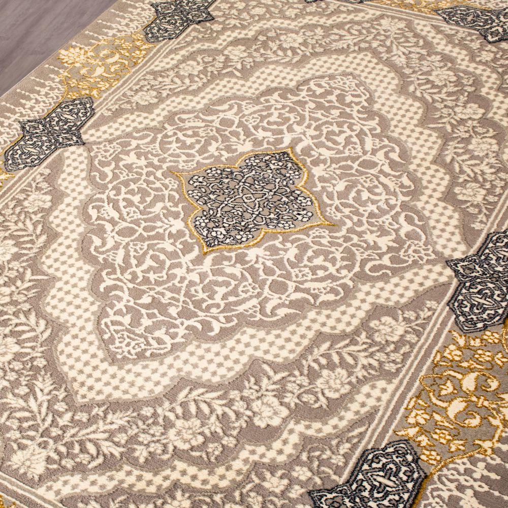 فرش فانتزی 6373 نقره ای-4