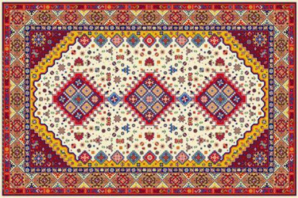 فرش طرح هندسی