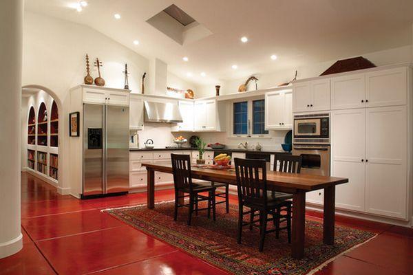 فرش در دکوراسیون داخلی آشپزخانه